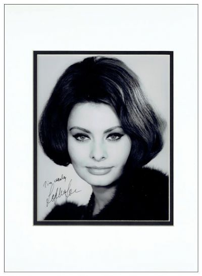 Sophia Loren Autograph Photo Authentic For Sale